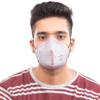 Best mask produced for a common Man | Washable | Reusable with superior protection & comfort | Armour | Grey  with red dots