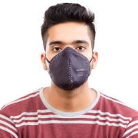 Best mask produced for a common Man | Washable | Reusable with superior protection & comfort | Armour | Pack of 2 - Black