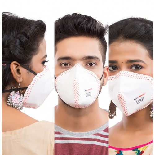Best mask produced for a common Man | Washable | Reusable with superior protection & comfort | Armour |Pack of 3  - white