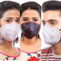 Best mask produced for a common Man | Washable | Reusable with superior protection & comfort | Pack Of 3 - Armour - 2 Grey & 1 Black