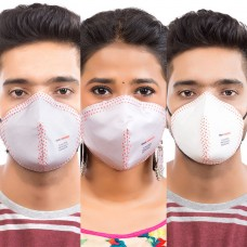 Best mask produced for a common Man | Washable | Reusable with superior protection & comfort |  Pack of 3 - Armour - 2 Grey & 1 White