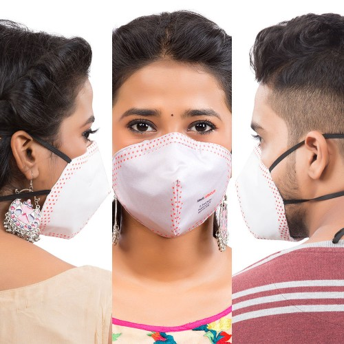 Best mask produced for a common Man | Washable | Reusable with superior protection & comfort | Armour | Pack Of 3  - 2 white & 1 Grey