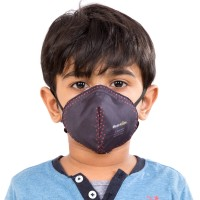 Best mask produced for Kids | Washable | Reusable with superior protection & comfort | Armour - Black with Red Dots
