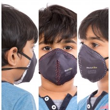 Best mask produced for Kids | Washable | Reusable with superior protection & comfort | Pack of 3 - Armour Kids - Black