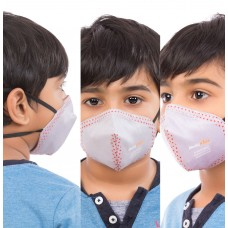 Best mask produced for Kids | Washable | Reusable with superior protection & comfort | Pack of 3 - Armour Kids - Grey