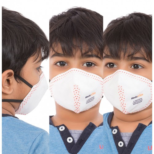 Best mask produced for Kids | Washable | Reusable with superior protection & comfort | Pack of 3 - Armour Kids - WHITE