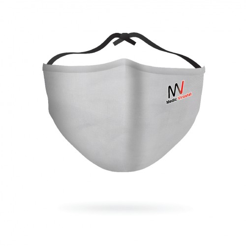Pack of 5 Grey Colour combo | Virostat | Inactivate the virus with in minutes | Reusable cloth Mask